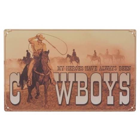 Gift Corral My Heroes Cowboy Sign