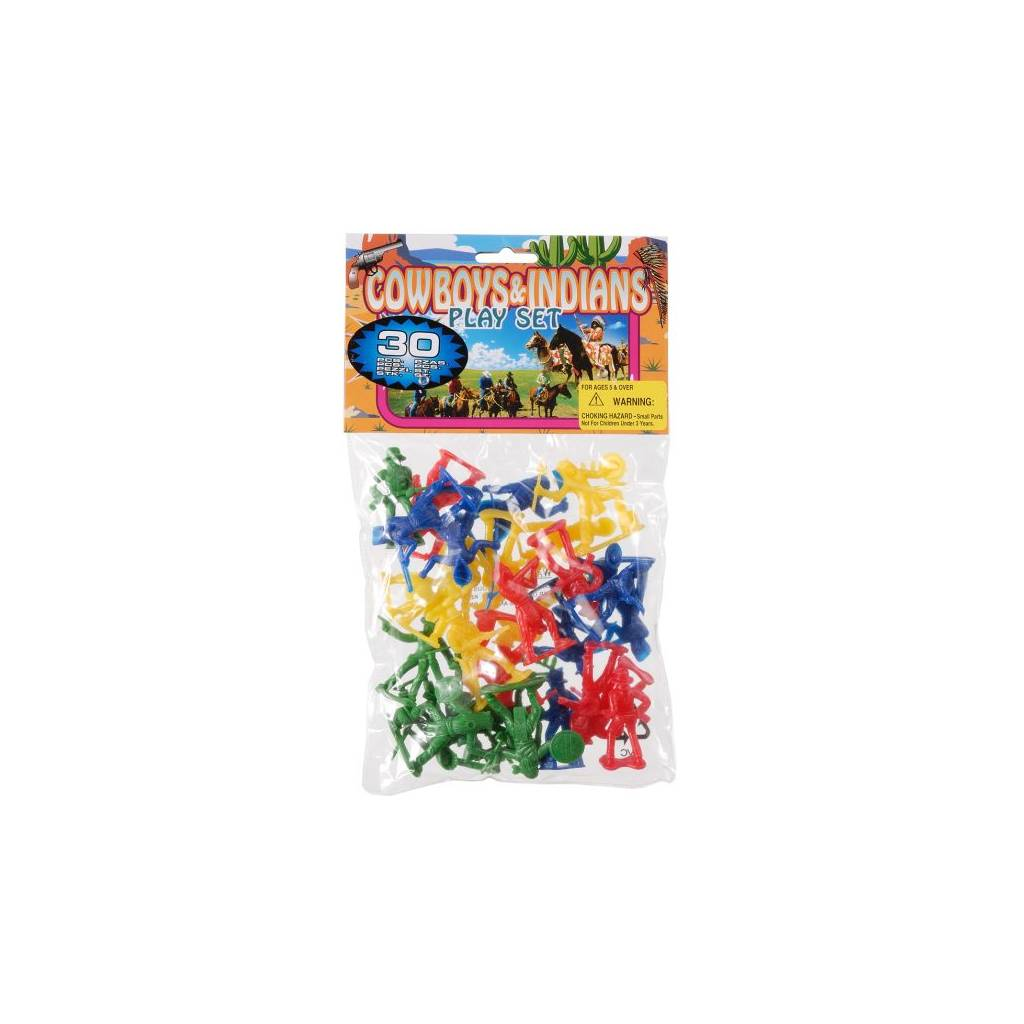 Gift Corral Playset 30Pc Cowboy & Indian