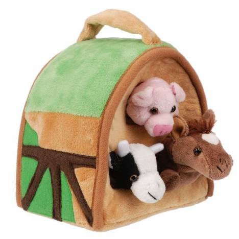 Gift Corral Plush Barn with 3 Plush Animals