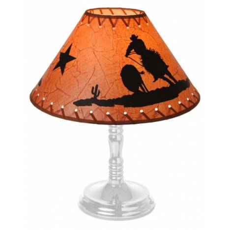 Gift Corral Cowboy and Steer Lamp Shade