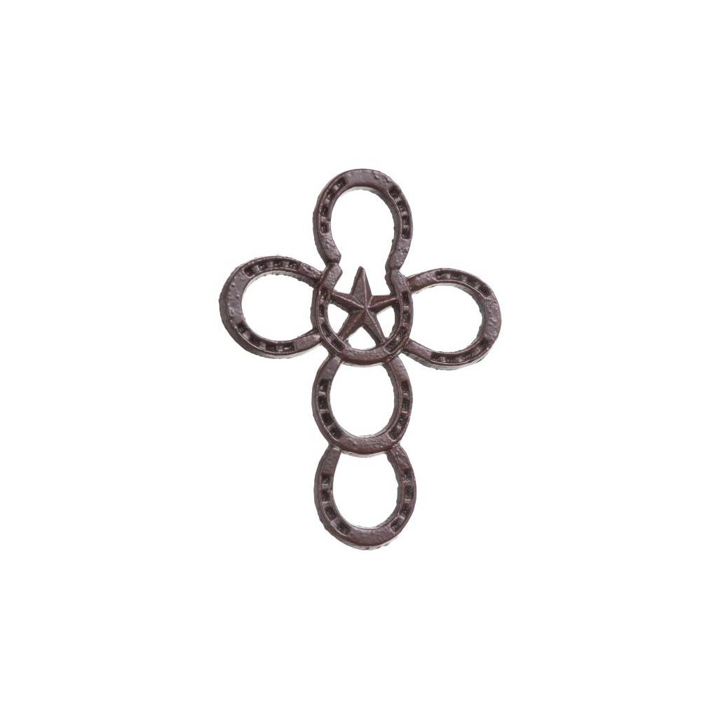 Gift Corral Metal Horseshoe Cross