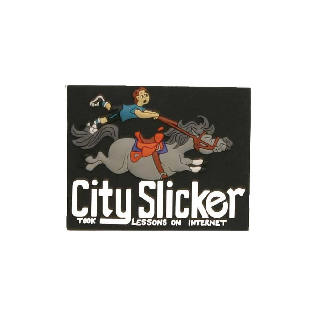 City Slicker Refrigerator Magnet