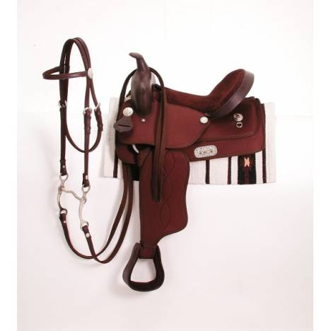 King Series Synthetic Pony Saddle Package