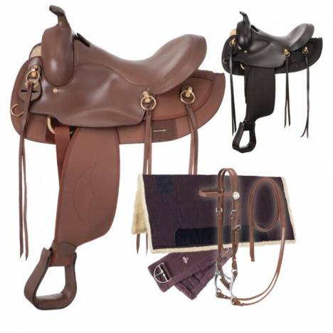 King Series Synthetic Gaited Round Skirt Saddle Package