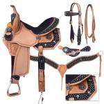 Silver Royal Desert Faith Barrel Saddle with  Black Suede Overlay Package