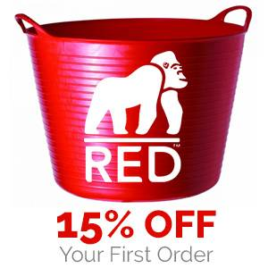 Red Gorilla Tubtrugs® Are Back<br>15% OFF Your First Order