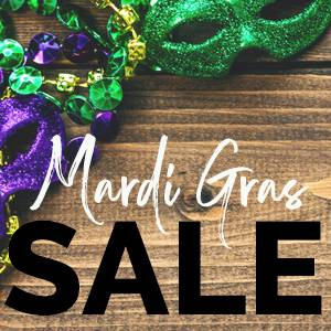Mardi Gras Sale! <br>Extra 20% OFF + Free Shipping*