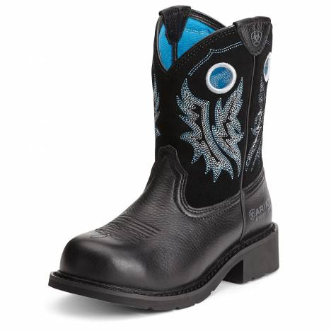 Ariat Ladies Fatbaby Steel Toe Boots - Black