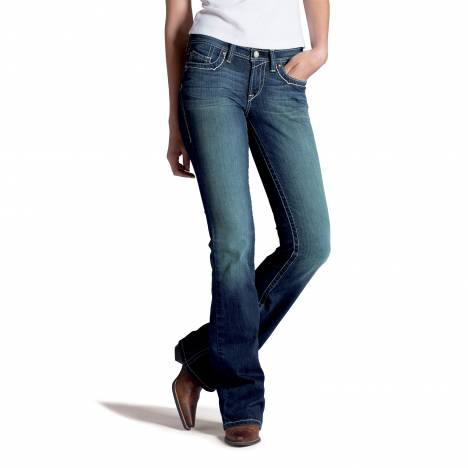 Ariat Turquoise High Kicks Jeans - Ladies, White Spitfire