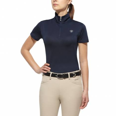 Ariat Aptos 1/4 Zip Top - Ladies, Navy Eclipse