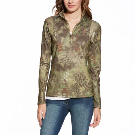 Ariat Ladies Kryptek Camo 1/4 Zip - Olive Mandrake