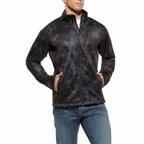 Ariat Kryptek Softshell Jacket - Mens, Black Typhon