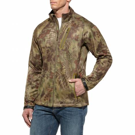 Ariat Kryptek Softshell Jacket - Mens, Olive Mandrake