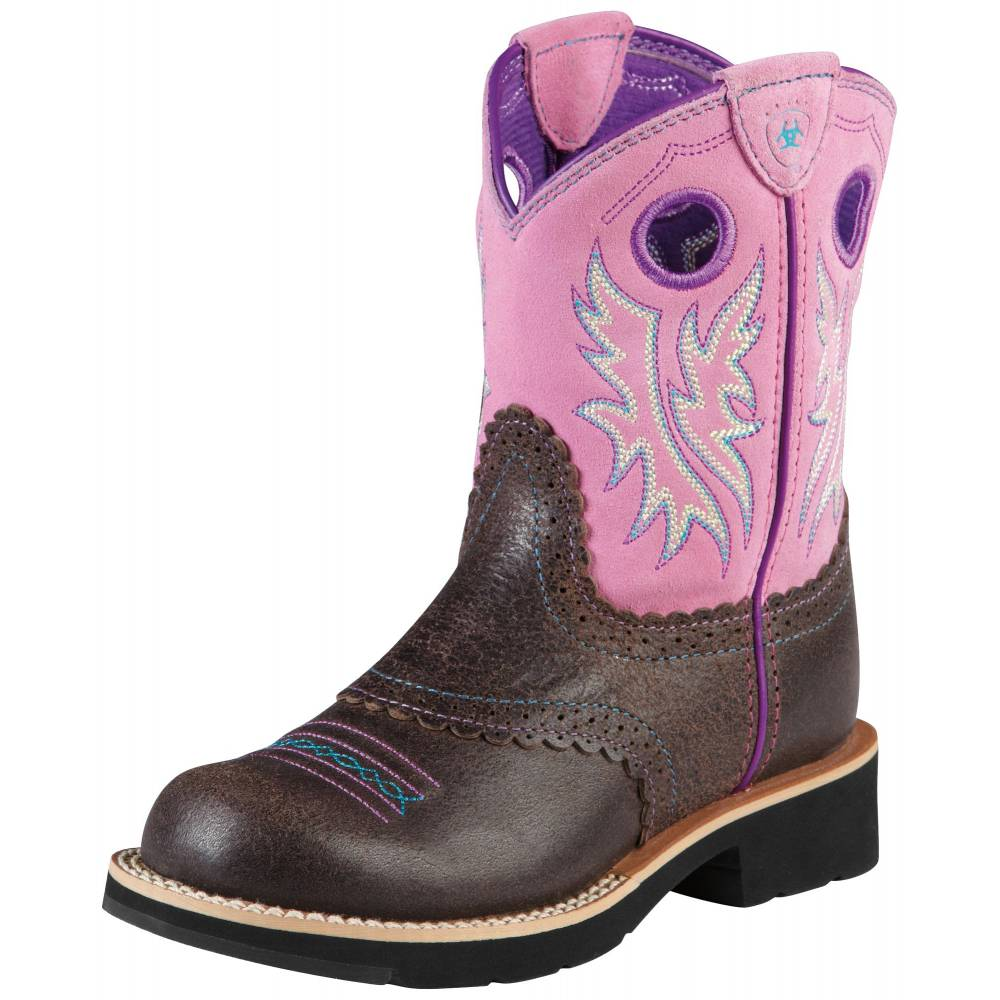 Ariat Youth Girls Crossroads Cowgirl Boots - Square Toe