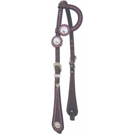 Cowboy Pro Slip Ear Headstall with Spot Trim