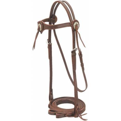 Cowboy Pro Brow Bridle With Concho