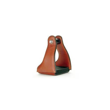 E-Z Ride Standard Aluminum Stirrups with Leather Cover
