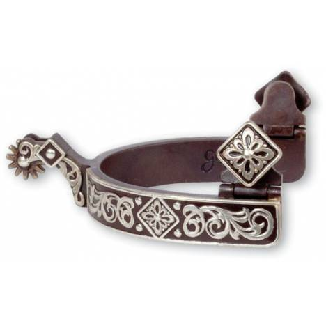 Classic Equine Diamond Scroll Spur