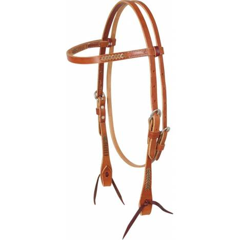 Martin Saddlery Rawhide Lace Browband Headstall