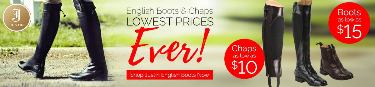 Justin Chaps & Boots as low as $10