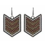 Rock 47 Points of Aztec Gold Tone Fletched Earrings