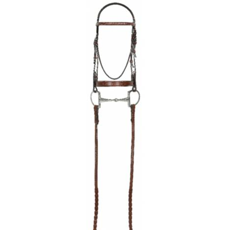 RODRIGO PESSOA Fancy WIDE Show Bridle w Raised Laced Reins
