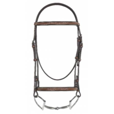 Rodrigo Pessoa Fancy raised Padded Bridle with Raised Fancy Stitch Lace Reins