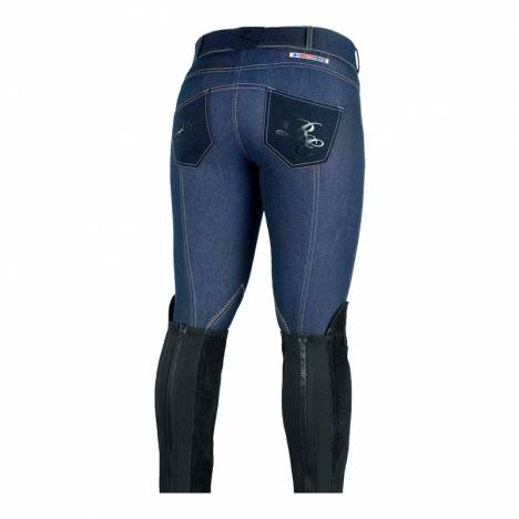 HorZe Denim Breeches Royal Equus Selfpatch