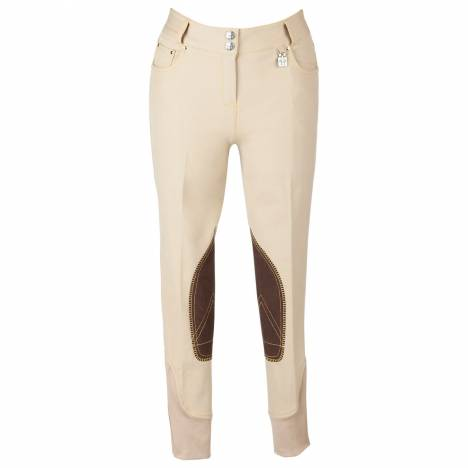 Huntley Riding Pant with Snap Pockets - Ladies, Knee Patch