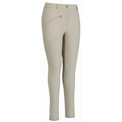 TuffRider Ladies Knee Patch Breeches - Taupe - 30R