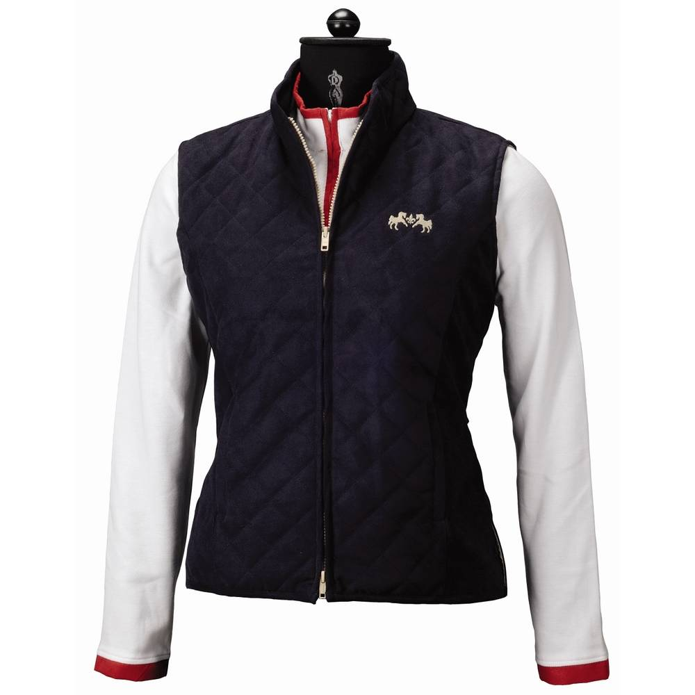 Equine Couture Spinnaker Micro Suede Vest Horseloverz