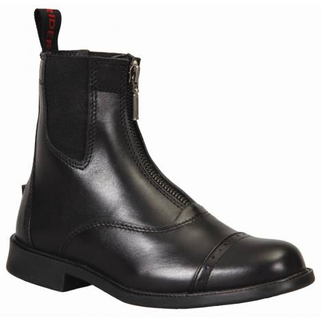 TuffRider Kids Baroque Front Zip Paddock Boots With Metal Zipper