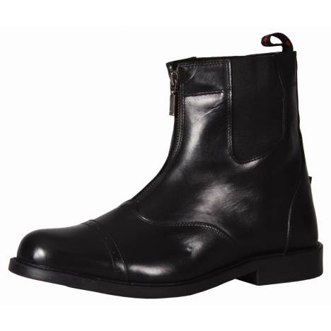 TuffRider Mens Baroque Front Zip Paddock Boots With Metal Zipper