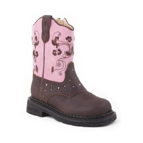 Roper Infant Toddler Girls Dazzle Lights Western Boots