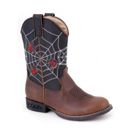 Roper Faux Leather Spider Lights Boots - Kids