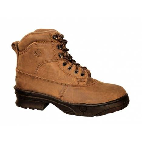 Roper Mens Crossrider Horseshoe Boots - Brown
