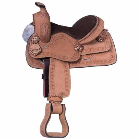 King Series Cowboy Border Tooled Saddle