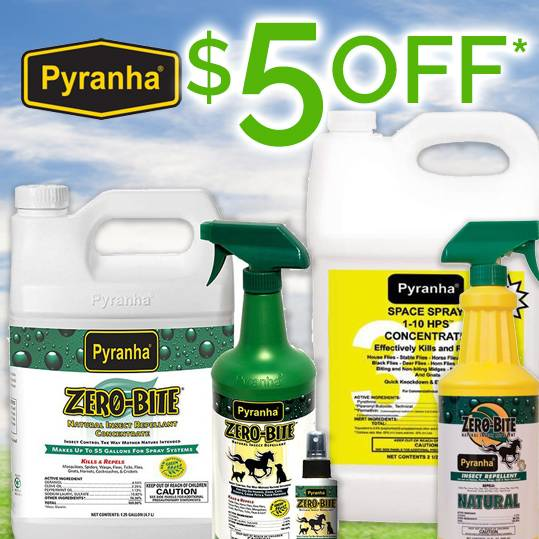 Instant Cash Rebate!<br>Buy any 3 Pyranha Products Get $5 OFF