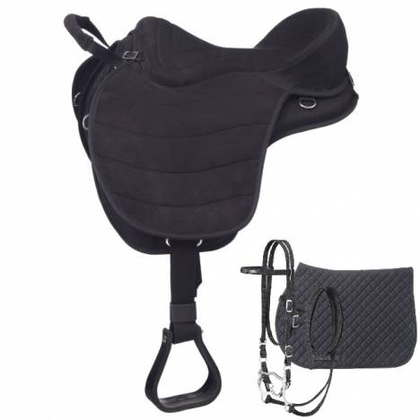 Eclipse by Tough 1 Treeless Endurance Saddle with Western Rigging