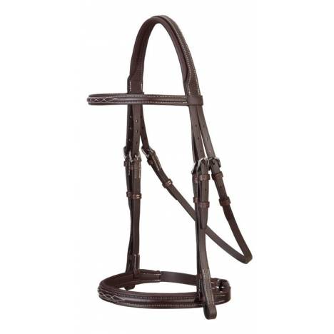 Stubben Fancy Stitch Anthracite Padded Snaffle Bridle