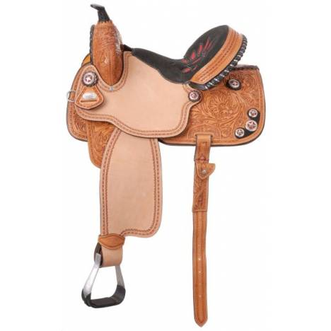 Silver Royal Fayette Barrel Saddle