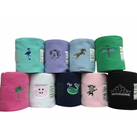 Lettia Polo Bandages with Embroidery - Jumping Horse
